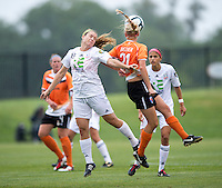 Samantha Huecker, Molly Bruh.  The Charlotte Lady eagles defeated the Long Island Rough Riders, 4-0, to advance to the W-League Eastern Conference Championship.