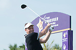 Lee Sharpe tees off the 1st hole during the World Celebrity Pro-Am 2016 Mission Hills China Golf Tournament on 22 October 2016, in Haikou, China. Photo by Marcio Machado / Power Sport Images