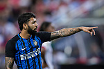 FC Internazionale Forward Gabriel Barbosa gestures during the International Champions Cup match between FC Bayern and FC Internazionale at National Stadium on July 27, 2017 in Singapore. Photo by Marcio Rodrigo Machado / Power Sport Images