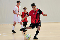 Mojtaba Sayed of Selwyn College during the Futsal NZ Secondary Schools Junior Boys Final between Hamilton Boys High School and Selwyn College at ASB Sports Centre, Wellington on 26 March 2021.<br /> Copyright photo: Masanori Udagawa /  www.photosport.nz