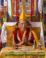 GESHE LOBSANG GYATSO is a high lama of the GELUKPA order of Tibetan Buddhism - MODEL RELEASED.