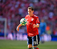 12.05.2018, Football 1. Bundesliga 2017/2018, 34.  match day, FC Bayern Muenchen - VfB Stuttgart, in Allianz-Arena Muenchen.  Sebastian Rudy (FC Bayern Muenchen) . *** Local Caption *** © pixathlon<br /> <br /> +++ NED + SUI out !!! +++<br /> Contact: +49-40-22 63 02 60 , info@pixathlon.de