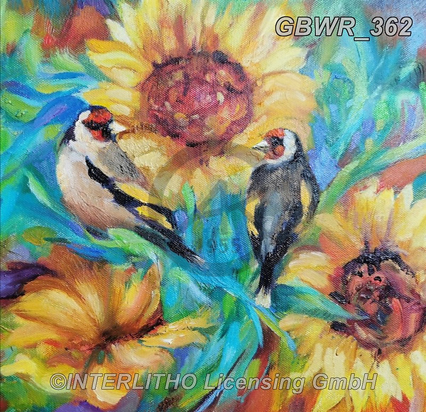 Simon, REALISTIC ANIMALS, REALISTISCHE TIERE, ANIMALES REALISTICOS, innovativ, paintings+++++SueGardner_Goldfinches,GBWR362,#a#, EVERYDAY