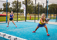 Netherlands, September 5,  2020, Amsterdam, Padel Dam, NK Padel, National Padel Championships, Womans doubles: <br /> Photo: Henk Koster/tennisimages.com
