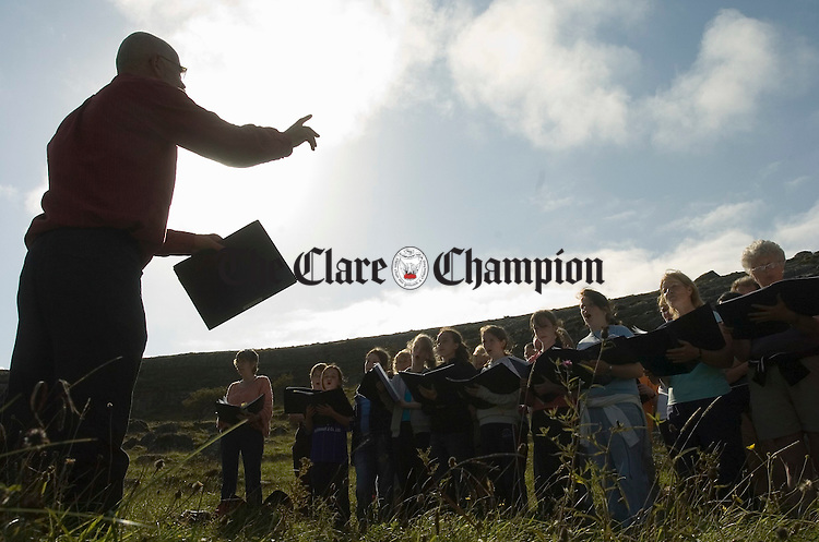 """the Lismorahaun Singers performance of """"The Voice of the Mountain"""" as part of the Burren Ramble in aid of the RNLI. Photograph by John Kelly."""