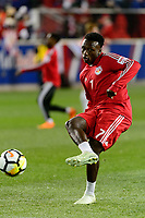 Harrison, NJ - Tuesday April 10, 2018: Derrick Etienne Jr. prior to leg two of a  CONCACAF Champions League semi-final match between the New York Red Bulls and C. D. Guadalajara at Red Bull Arena. C. D. Guadalajara defeated the New York Red Bulls 0-0 (1-0 on aggregate).