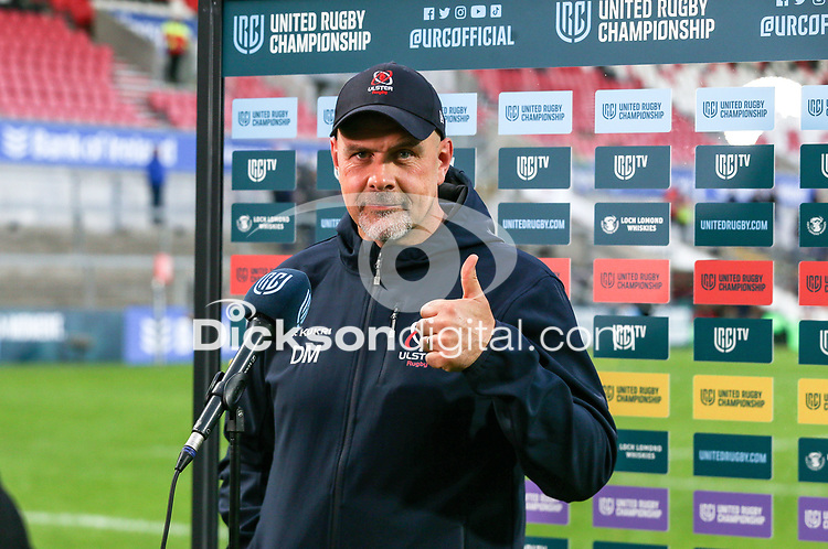 Friday 8th October 2021<br /> <br /> Dan McFarland during the URC Round 3 clash between Ulster Rugby and Benetton Rugby at Kingspan Stadium, Ravenhill Park, Belfast, Northern Ireland. Photo by John Dickson/Dicksondigital