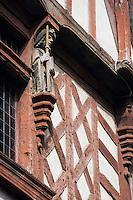 Europe/France/Bretagne/22/Côtes d'Armor/Saint-Brieuc: Détail ornementation de la maison le Ribault rue Fardel