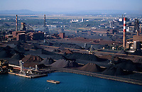 Mining site and industry on the port of Fos-sur-Mer, Provence, France.