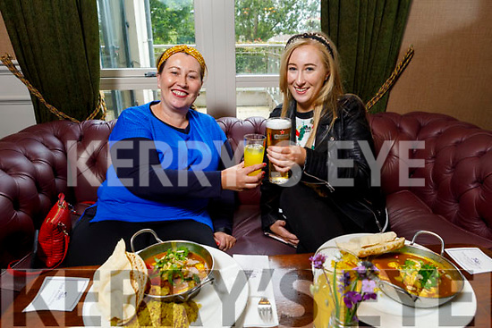 Carmel and Michaela Clifford from Glenbeigh enjoying the reopening of the Rose Hotel on Monday night.