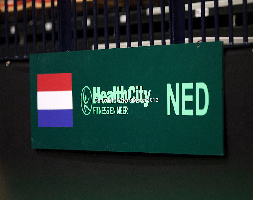 07-02-12, Netherlands,Tennis, Den Bosch, Daviscup Netherlands-Finland, Boarding, HealthCity