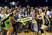Aliyah Dunn and Whitney Souness of the Pulse, ANZ Premiership Netball - Pulse v Magic at TSB Bank Arena, Wellington, New Zealand on Sunday 30 May 2021.<br /> Photo by Masanori Udagawa. <br /> www.photowellington.photoshelter.com