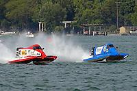 Jim Robb, Sr., (#47) and Mike Klepadlo, (#35)<br /> <br /> Trenton Roar On The River<br /> Trenton, Michigan USA<br /> 17-19 July, 2015<br /> <br /> ©2015, Sam Chambers