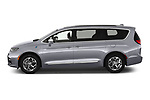 Car Driver side profile view of a 2021 Chrysler Pacifica-Hybrid LIMITED 5 Door Minivan Side View