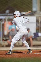 Anthony Fornero (22) during the WWBA World Championship at the Roger Dean Complex on October 13, 2019 in Jupiter, Florida.  Anthony Fornero attends Lemont Twp High School in Lemont, IL and is committed to Evansville.  (Mike Janes/Four Seam Images)