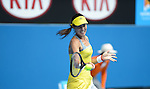 Ana Ivanovic (SRB) wins  at Australian Open in Melbourne Australia on 17th January 2013