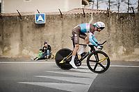 Mickaël Cherel (FRA/AG2R-La Mondiale)<br /> <br /> Stage 5 (ITT): Barbentane to Barbentane (25km)<br /> 77th Paris - Nice 2019 (2.UWT)<br /> <br /> ©kramon