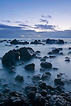 USA, HI, Laupahoehoe Point, Lava Rocks Dawn