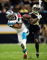 The Carolina Panthers vs. Carolina Panthers vs. New Orleans Saints Sunday afternoon December 3, 2017 at the Mercedes-Benz Superdome in New Orleans, LA.<br /> <br /> Photo by: PatrickSchneiderPhoto.com