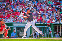23 May 2015: Washington Nationals outfielder Michael Taylor in action against the Philadelphia Phillies at Nationals Park in Washington, DC. The Phillies defeated the Nationals 8-1 in the second game of their 3-game weekend series. Mandatory Credit: Ed Wolfstein Photo *** RAW (NEF) Image File Available ***