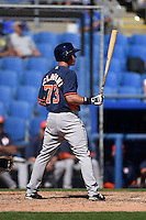 Houston Astros second baseman Joe Sclafani (73) during a Spring Training game against the Toronto Blue Jays on March 9, 2015 at Florida Auto Exchange Stadium in Dunedin, Florida.  Houston defeated Toronto 1-0.  (Mike Janes/Four Seam Images)