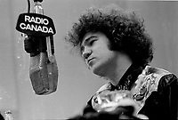 Undated  File Photo taken betwen 1970 and 1977  -  Montreal, Quebec. CANADA -  <br /> Robert Charlebois radio interview at Radio-Canada