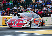 Aug. 5, 2011; Kent, WA, USA; NHRA pro stock driver Greg Anderson during qualifying for the Northwest Nationals at Pacific Raceways. Mandatory Credit: Mark J. Rebilas-