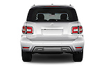 Straight rear view of 2018 Nissan Armada Platinum 5 Door SUV Rear View  stock images
