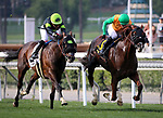 ARCADIA, CA - FEBRUARY 10: Om with Flavien Prat defeats Bowies Hero and Corey Nakatani to win the Thunder Road Stakes at Santa Anita Park on February 10, 2018 in Arcadia, California. (Photo by Chris Crestik/Eclipse Sportswire/Getty Images)