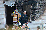 MIDDLEBURY,  CT-122716JS07-- Middlebury firefighters and police were on the scene of a fatal fire at a two-family home at 165 Whittemore Road in Middlebury on Tuesday. <br /> Jim Shannon Republican-American