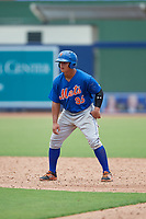 GCL Mets right fielder Raul Beracierta (95) leads off during the second game of a doubleheader against the GCL Nationals on July 22, 2017 at The Ballpark of the Palm Beaches in Palm Beach, Florida.  GCL Mets defeated the GCL Nationals 4-1.  (Mike Janes/Four Seam Images)