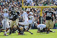 South Bend, IN - OCTOBER 4:  Running back Anthony Kimble #5 of the Stanford Cardinal during Stanford's 28-21 loss against the Notre Dame Fighting Irish on October 4, 2008 at Notre Dame Stadium in South Bend, Indiana.