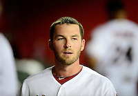 Jul. 3, 2012; Phoenix, AZ, USA: Arizona Diamondbacks shortstop Stephen Drew in the second inning against the San Diego Padres at Chase Field. Mandatory Credit: Mark J. Rebilas-
