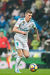 Toni Kroos of Real Madrid in action during the La Liga 2017-18 match between Real Madrid and Villarreal CF at Santiago Bernabeu Stadium on January 13 2018 in Madrid, Spain. Photo by Diego Gonzalez / Power Sport Images