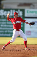 Batavia Muckdogs second baseman Colin Walsh (6) during the second game of a double header vs. the Connecticut Tigers at Dwyer Stadium in Batavia, New York July 10, 2010.  Connecticut defeated Batavia 8-1.  Photo By Mike Janes/Four Seam Images