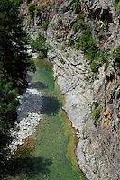 Flussbett des Vecchio nahe Venaco, Korsika, Frankreich