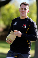 Tuesday 3rd May;  James Hume<br /> Ulster Rugby Training at Perrie Park, Belfast, Northern Ireland. Photo by John Dickson/Dicksondigital
