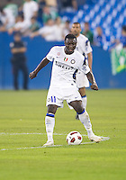 August 03 2010 Inter Milan FC midfielder Sulley Muntari No. 11 in action during an international friendly between Inter Milan FC and Panathinaikos FC at the Rogers Centre in Toronto..Final score was 3-2 for Panathinaikos FC.
