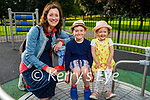 The Holly family from Asdee enjoying the evening in the playground in the Listowel town park on Monday, l to r: Oisin, Hannah and Ann Holly.