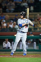Glendale Desert Dogs Alex Verdugo (51), of the Los Angeles Dodgers organization, during a game against the Scottsdale Scorpions on October 14, 2016 at Scottsdale Stadium in Scottsdale, Arizona.  Scottsdale defeated Glendale 8-7.  (Mike Janes/Four Seam Images)