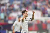 NASHVILLE, TN - SEPTEMBER 5: Christian Pulisic #10 of the United States before a game between Canada and USMNT at Nissan Stadium on September 5, 2021 in Nashville, Tennessee.
