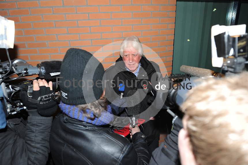 SCHAATSEN: ST. NICOLAASGA: Bijeenkomst Rayonhoofden Vereniging Friesche Elfsteden, 05-02-2012, Jan van der Klis, rayon Bolsward, ©foto: Martin de Jong