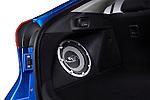 Subwoofer Bass Speaker in Cargo Area of a 2010 Mitsubishi Lancer Sportback