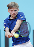 David Goffin, Belgium, during Madrid Open Tennis 2016 match.May, 2, 2016.(ALTERPHOTOS/Acero)