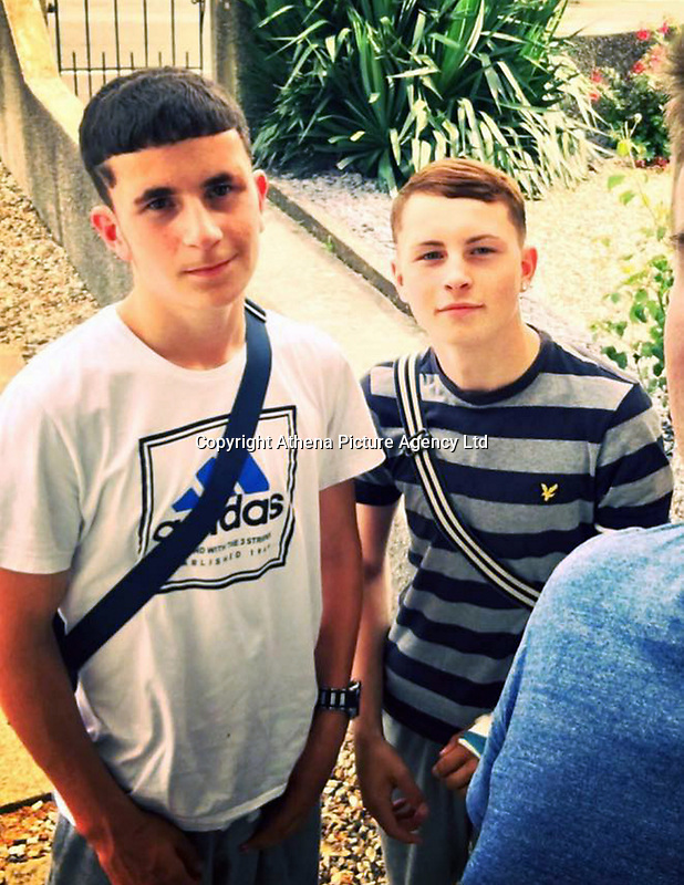"""COPY BY TOM BEDFORD<br /> Pictured L-R: Jack Yilmaz and Joshua Mannings<br /> Re: Two """"nightmare"""" teenagers have been banned from seeing each other for two years.<br /> Troublemakers Joshua Mannings, 16, and Jack Yilmaz, 17, will be arrested and locked up if they are caught together.<br /> The pair were named and shamed by a Criminal Behaviour Order after plaguing residents of Llantwit Major, Vale of Glamorgan.<br /> They were also banned from every supermarket in the town and wearing balaclavas to disguise themselves.<br /> Cardiff magistrates heard Mannings and Yilmaz caused misery to residents and business owners."""