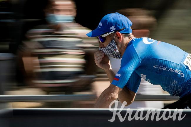 at the start in Bergamo<br /> <br /> 114th Il Lombardia 2020 (1.UWT)<br /> 1 day race from Bergamo to Como (ITA/231km) <br /> <br /> ©kramon
