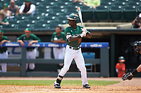 James Davison (51) of the Miami Hurricanes at bat against the Wake Forest Demon Deacons in Game Nine of the 2017 ACC Baseball Championship at Louisville Slugger Field on May 26, 2017 in Louisville, Kentucky. The Hurricanes defeated the Demon Deacons 5-2. (Brian Westerholt/Four Seam Images)