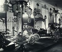 Exhibits of German companies on the first automobile exhibition. St. Petersburg. May 1907. / Экспонаты немецких фирм на Первой автомобильной выставке. Санкт-Петербург. Май 1907.