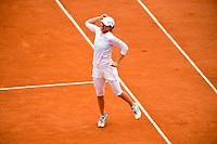 10th October 2020, Roland Garros, Paris, France; French Open tennis, Ladies singles final 2020; Iga Swiatek celebrates after winning the match
