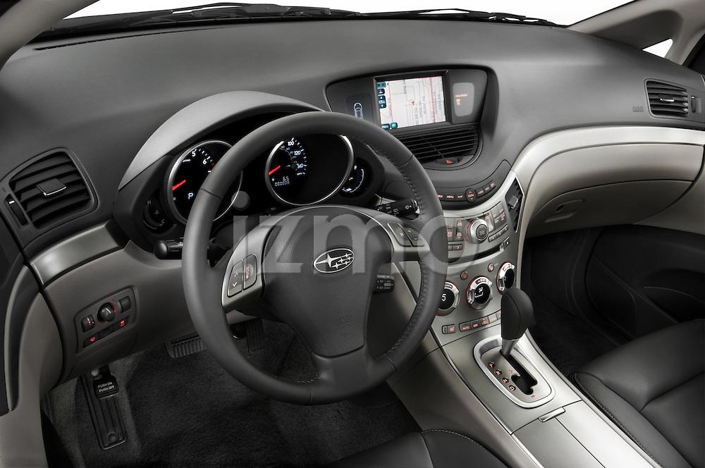 High angle dashboard view of a 2008 Subaru Tribeca SUV